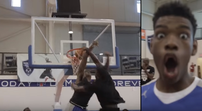 Victor Oladipo Gets Dunked On By Camper Then Destroys The Camper With Vicious Windmill
