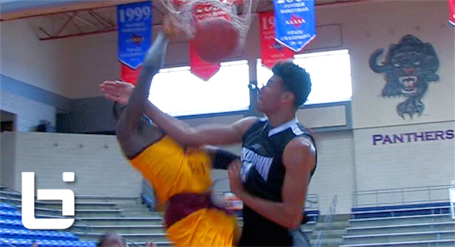 Defender Tries to Karate Chop Foul But Gets Dunked on Instead! Texas Hoops GASO Top Plays