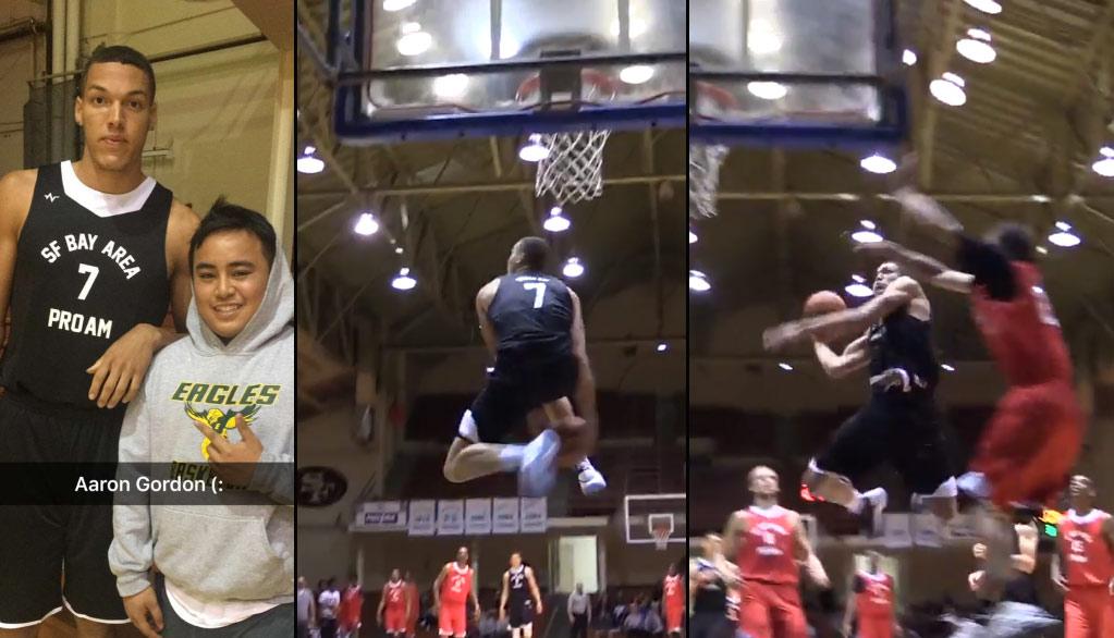 Aaron Gordon Throws Down 360 Between-The-Legs Dunk in San Fran Pro-Am Game