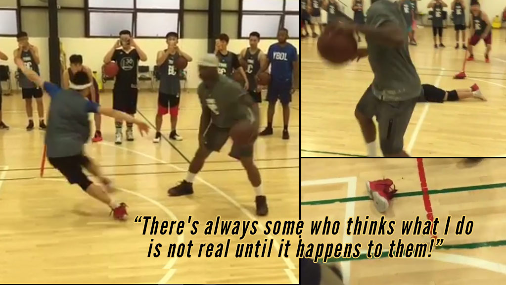 Bone Collector Crosses Challenger Out Of His Shoe During Ball Handling Clinic in China
