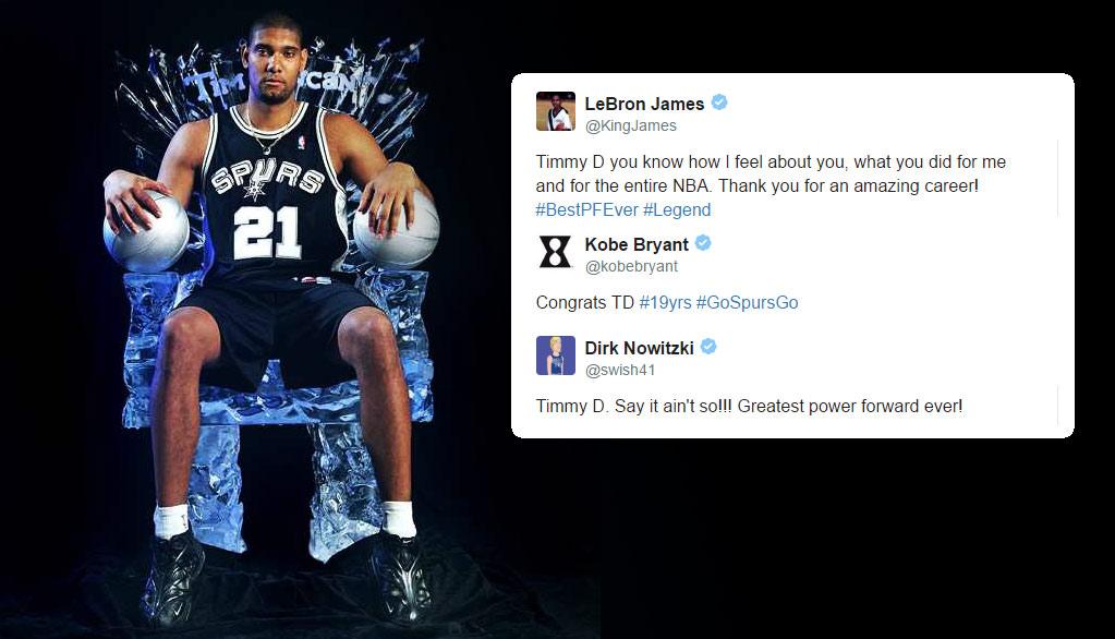 NBA Players React To Tim Duncan's Retirement