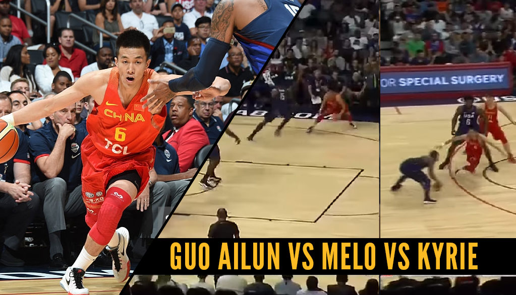 China's Guo Ailun Crosses Carmelo Anthony, Hits A 3 And Then Gets Crossed By Kyrie Irving