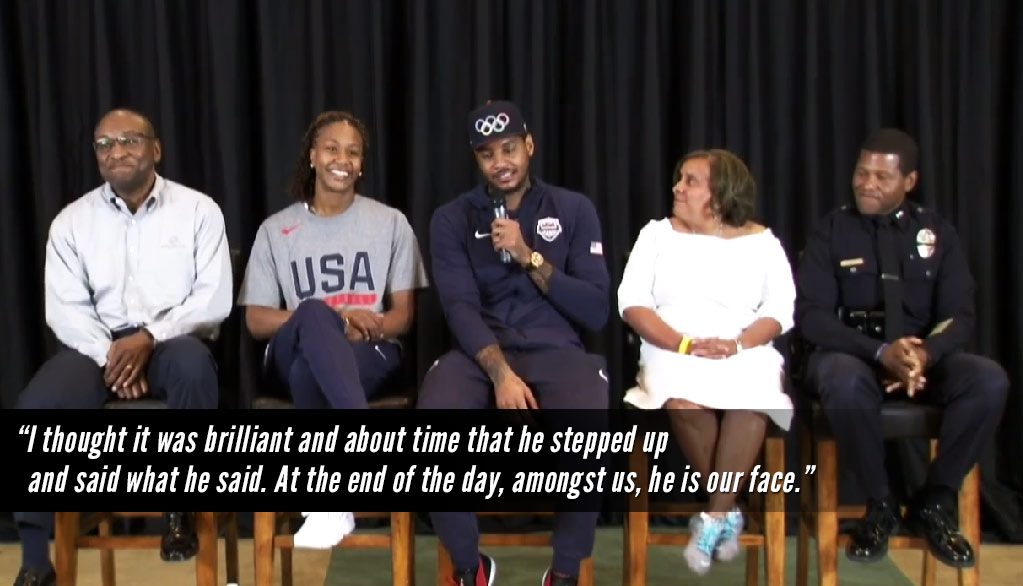 "Carmelo Anthony Holds Town Hall Meeting, Says It's ""Brilliant & About Time"" Michael Jordan Stepped Up"