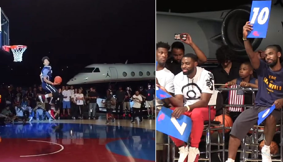 Michael Purdie Impresses Kyrie Irving, Wins Aston Martin At Nike Dunk Contest