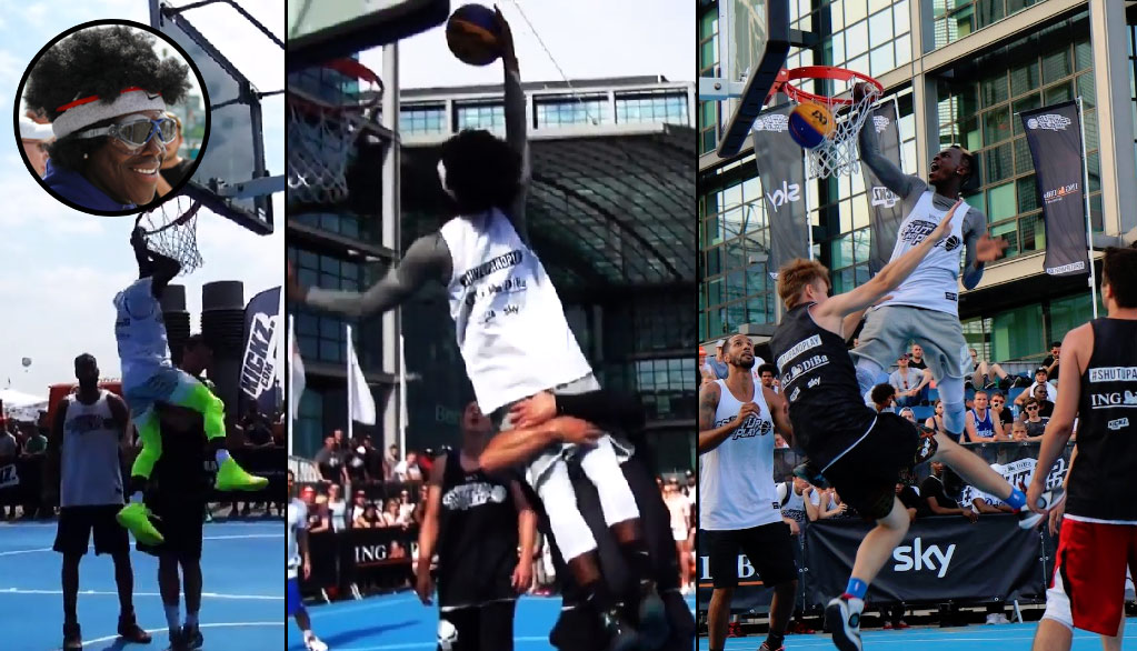 Dennis Schröder Wears Disguise in 3×3 Tournament, Dunks On Multiple Defenders!