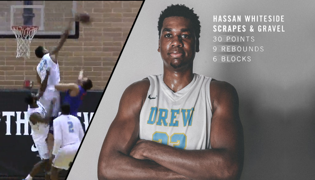 Hassan Whiteside Dominates In Drew League Debut, Wins Player Of The Week!