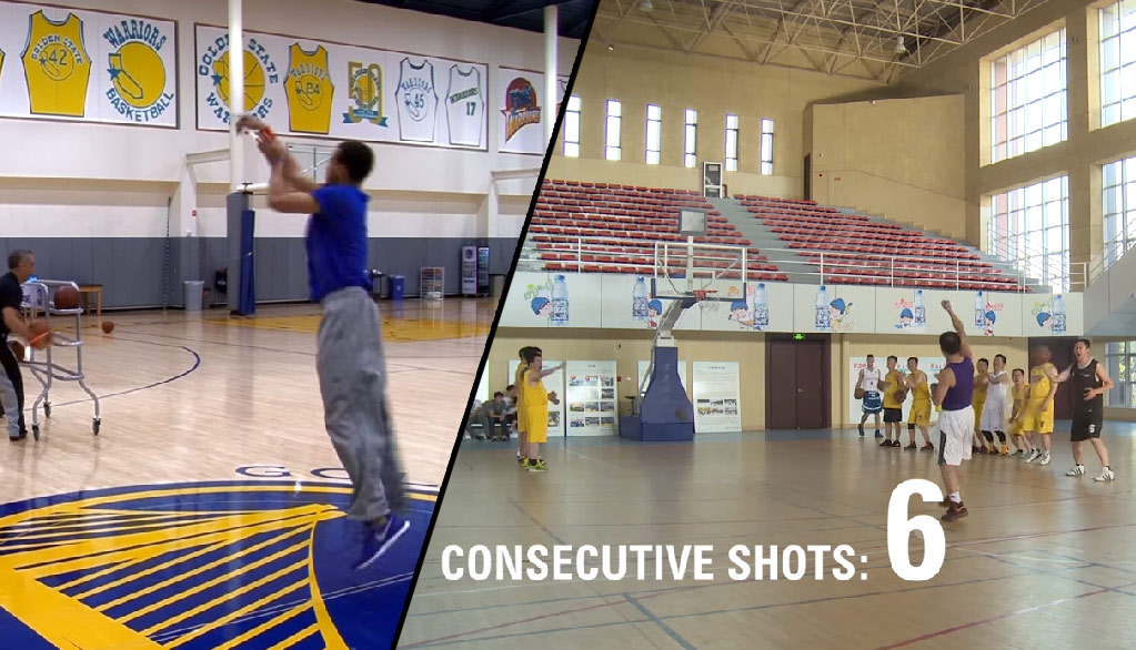 Man in China Sets World Record For Most Consecutive Half-Court Shots. Could Curry Break It?