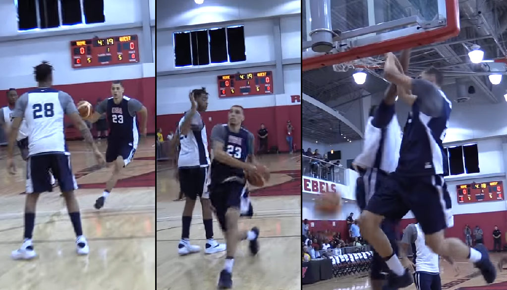 Zach LaVine Dunks On Myles Turner After D'Angelo Russell Plays Harden D