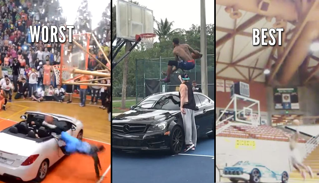 "Myree ""Reemix"" Bowden Throws Down The Best Over A Car Dunk EVER!"