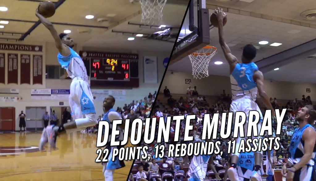 Spurs Rookie Dejounte Murray Triple Double In Seattle Pro-Am All-Star Game