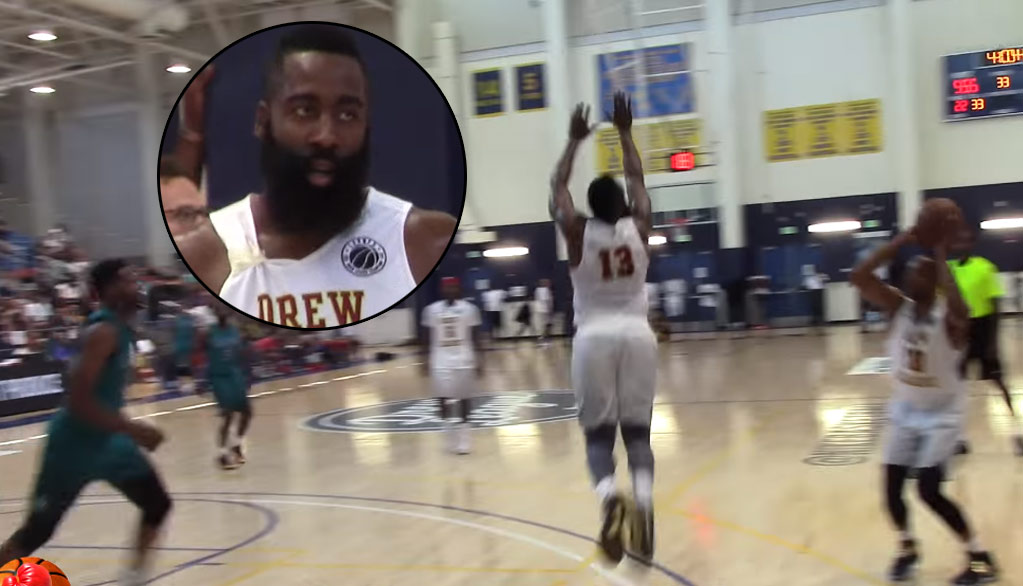 James Harden Tries To Block Teammate At Drew League!?
