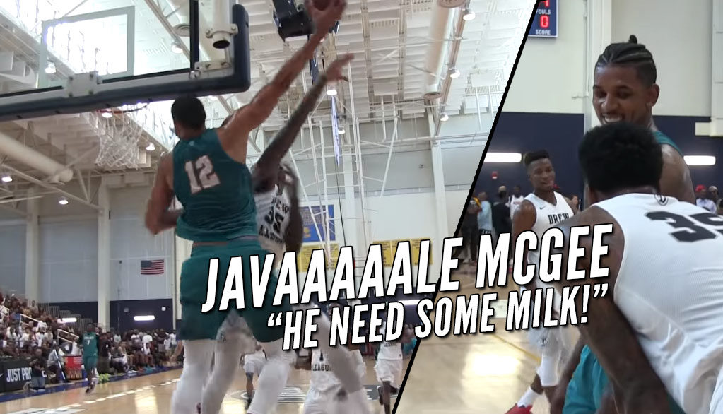 JaVale McGee Shuts Down The Drew League With A Redemption Poster Dunk On Chuck Garcia
