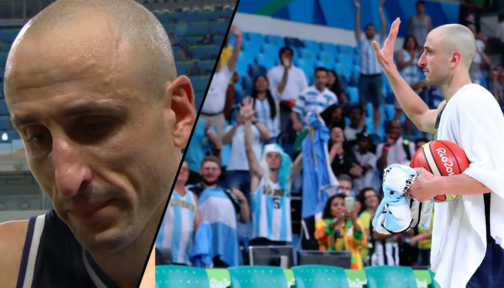 Manu Ginobili Gets Choked Up After Playing His Final Game For Argentina