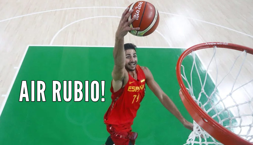 "Ricky ""Never Dunked In A NBA Game"" Rubio Can Throw It Down! Dunks Vs Nigeria"