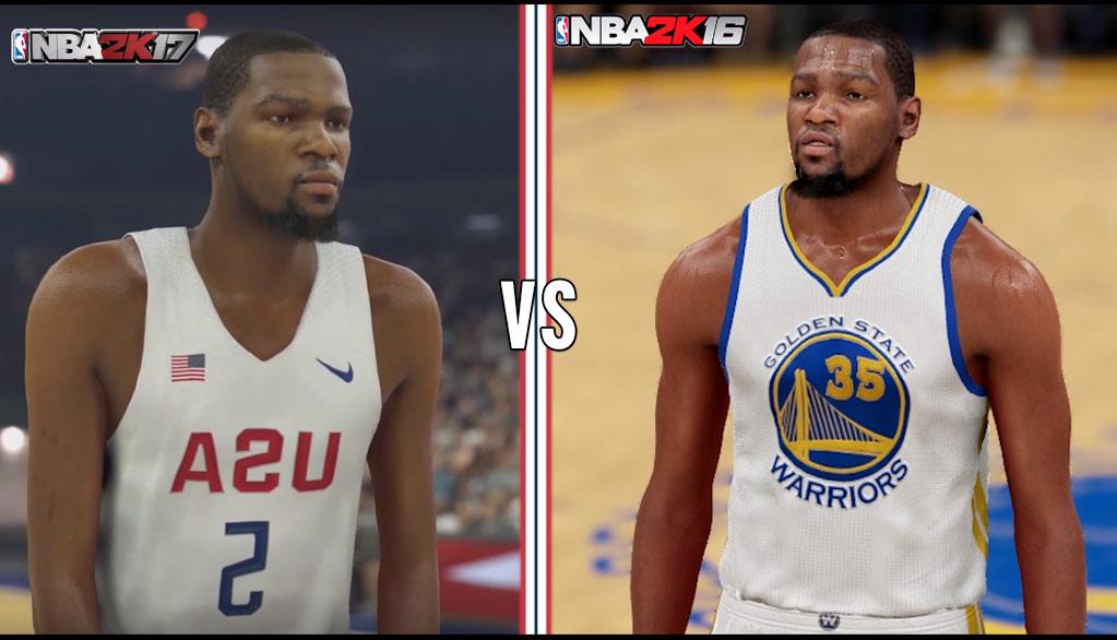 NBA 2k17 vs NBA 2k16 Graphics Comparisons