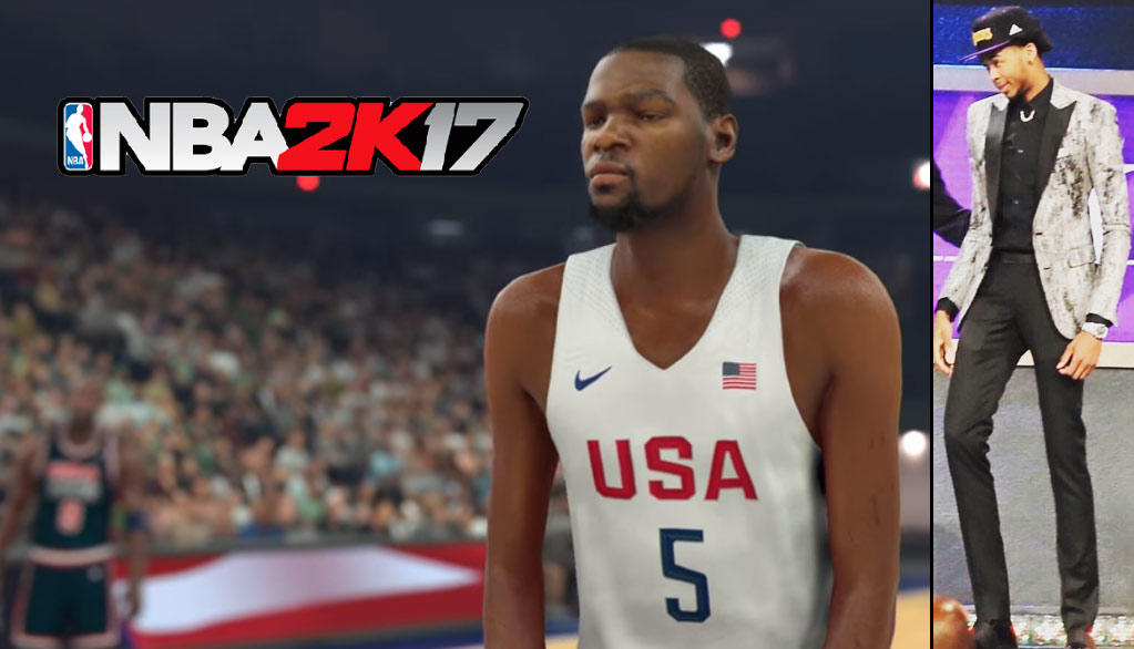 New NBA2K17 Trailer Made Kevin Durant Real Skinny…Like Brandon Ingram Skinny