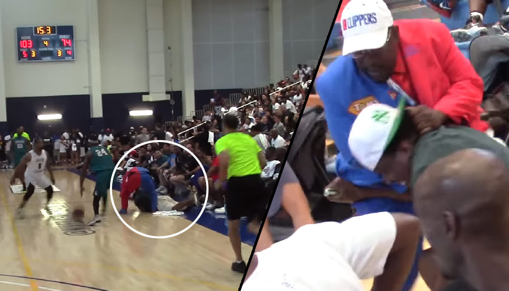 Clippers Superfan Clipper Darrell Gets Into A Fight With A Fan During Drew League Championship