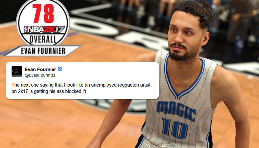 The Internet Hilariously Reacts To Evan Fournier Reacting To His NBA2k17 Image