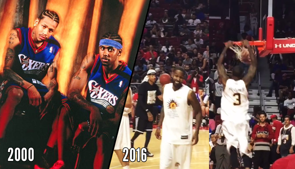 Allen Iverson & Larry Hughes Reenacted A 1999 NBA Commercial This Past Weekend