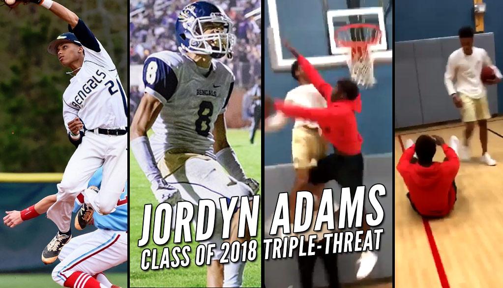 Baseball/Football Star Jordyn Adams Shows He's A Beast With A Basketball Too