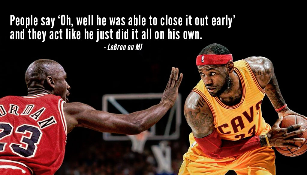 LeBron Really Does Think Michael Jordan Is A Ghost & Gets Too Much Credit For Championships