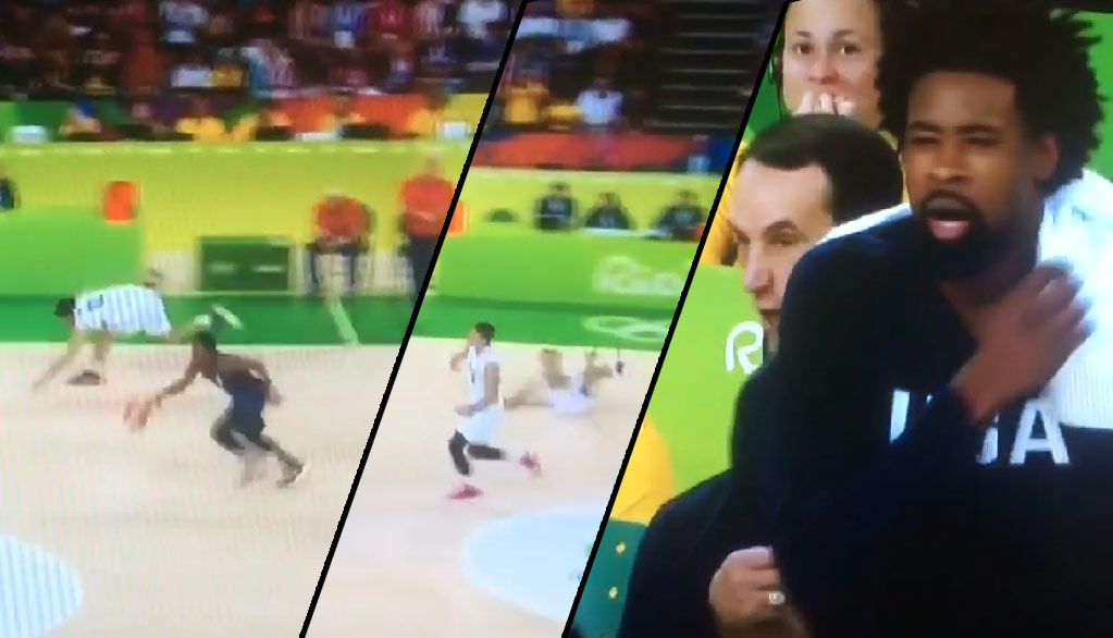 Kyle Lowry Drops Defender With Shammgod Move, Leads To DeRozan Dunk In Gold Medal Victory