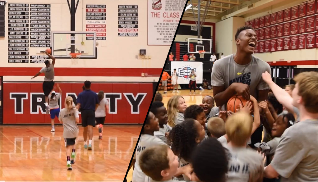 Myles Turner Dunks On Little Girl At His Basketball Camp, Explains Why He Shows No Mercy On Kids