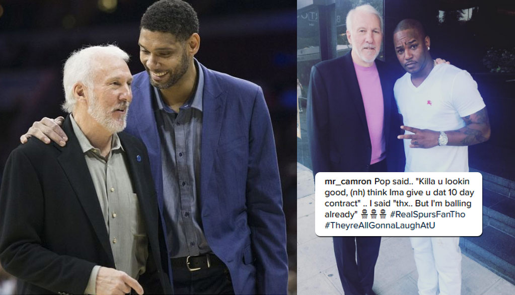 Coach Popovich Replaces Retired Tim Duncan With Rapper Cam'Ron