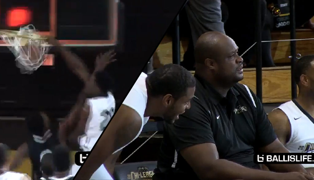 Antoine Walker Sighting At The Chi-League! Looking Disgusted After Corbin Thomas' Dunk On A 7 Footer