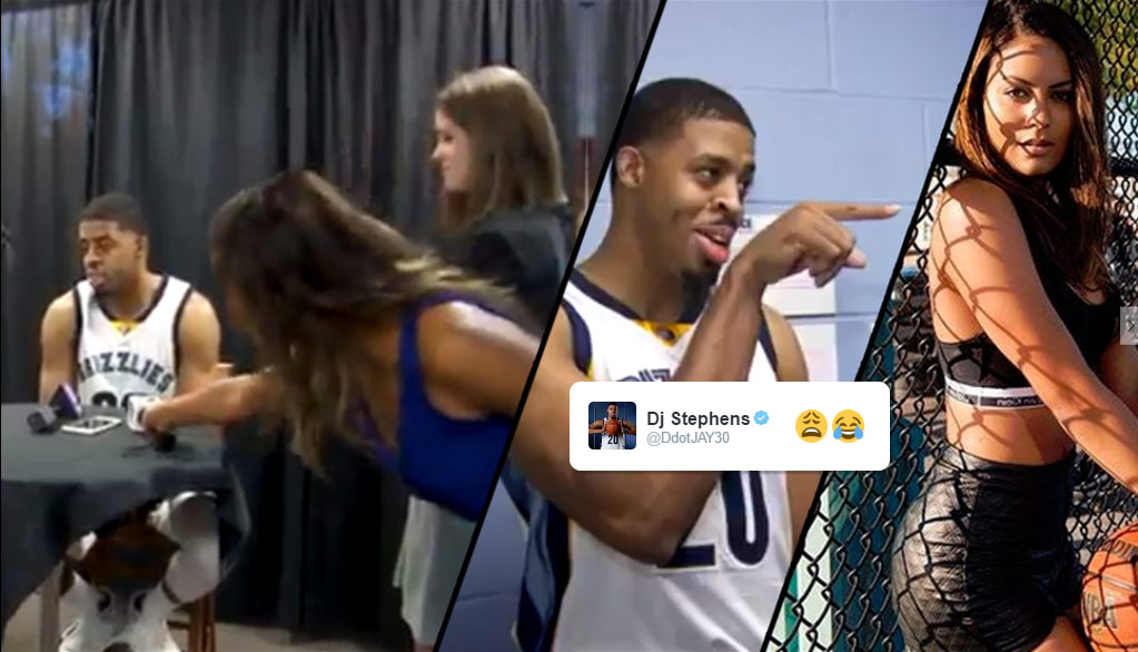 1st Day On The Job, New Grizzlies Reporter Walks Into A Camera During Player Interviews