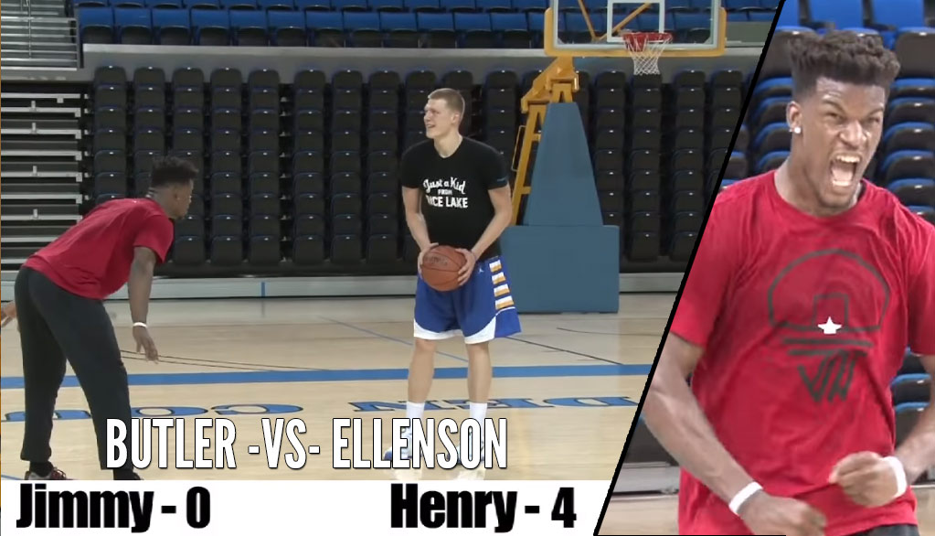 Jimmy Butler 1-on-1 With Pistons Rookie Henry Ellenson