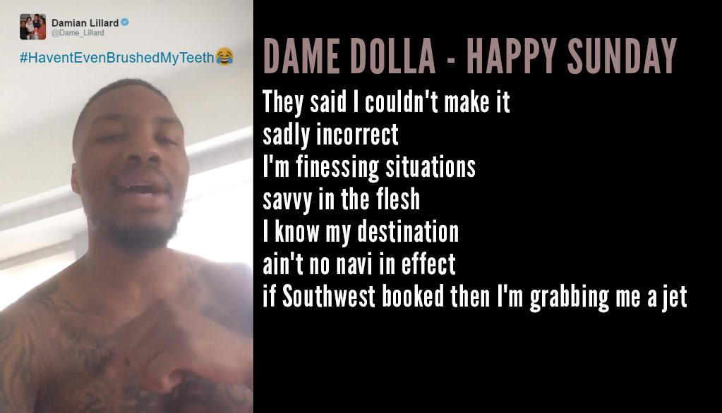 Dame Lillard Wakes Up & Drops An Impressive Rap on Twitter