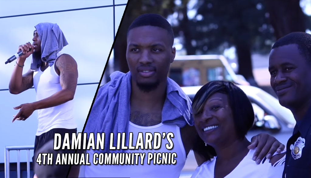 Damian Lillard Performs At Annual Community Picnic in Oakland
