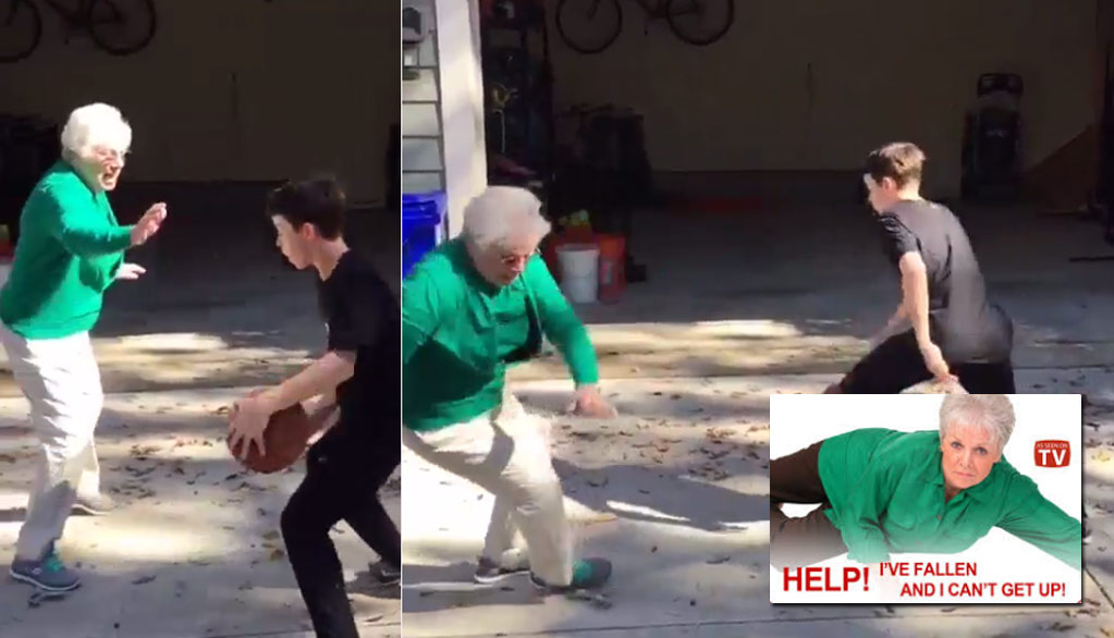 Ankle Breaker Of The Day: Not Even Grandmas Are Safe