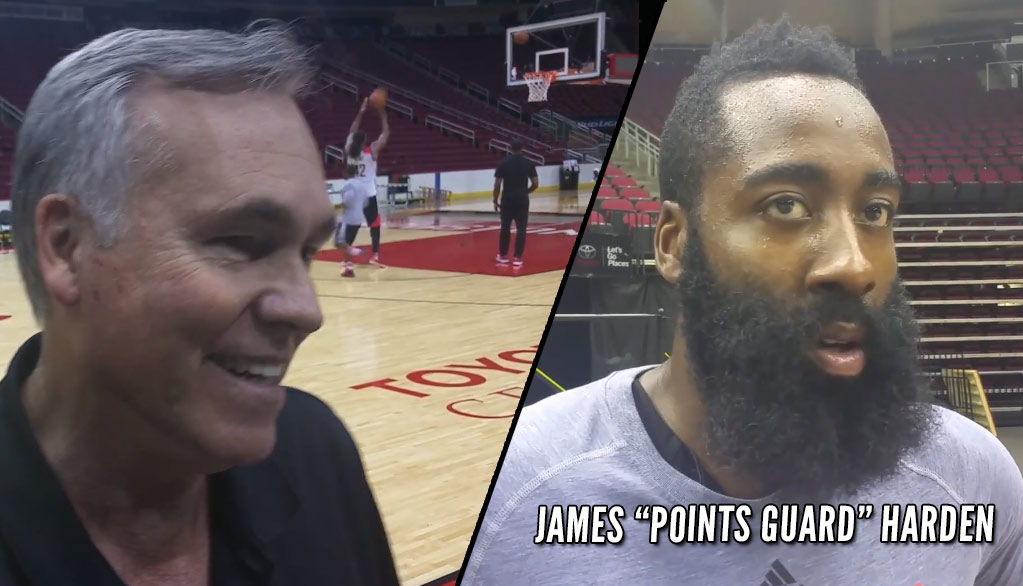 "Mike D'Antoni Says James Harden Will Be The Rockets' ""Points Guard"""