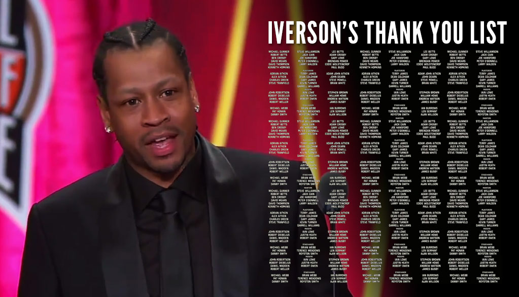 Watch Allen Iverson's Full Epic Emotional 30 Minute Hall Of Fame Speech