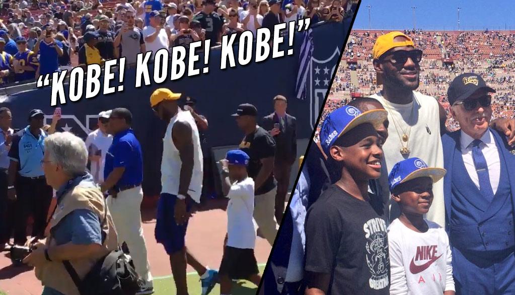 "LA Rams Fans Troll LeBron James With ""Kobe"" Chants"