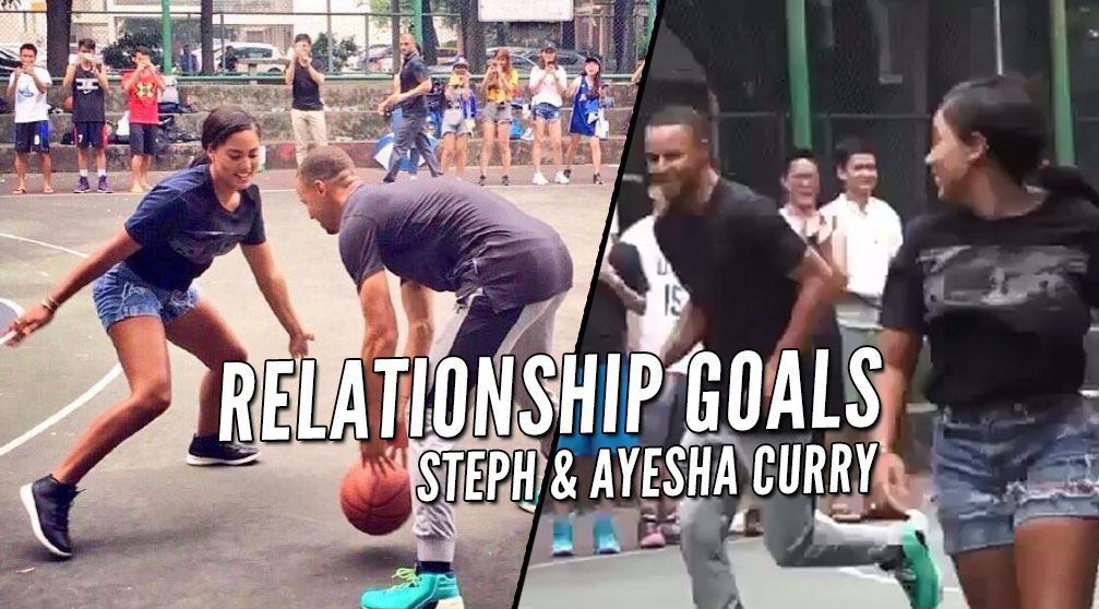 Ayesha Curry Impresses Steph With Her 3-Point Shooting Skills During Pick-Up Game In China