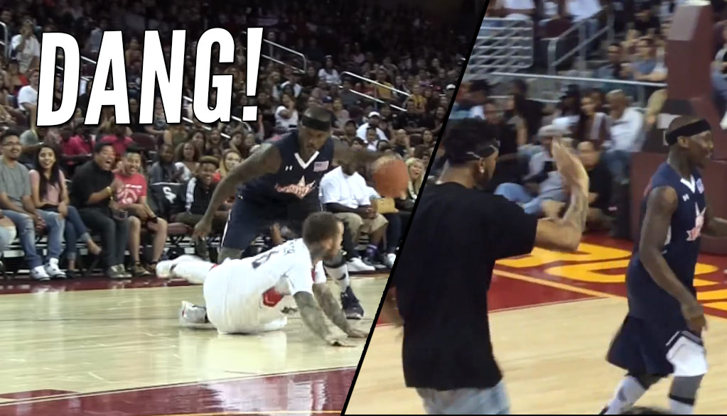 Bone Collector Breaks Mac Miller's Ankles at Power106 Game, D'Angelo Russell Tells BC To Leave