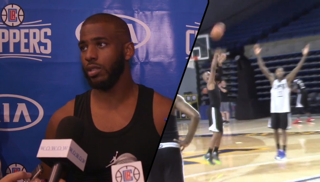 3 minutes of chris paul shooting lights out from 3 at
