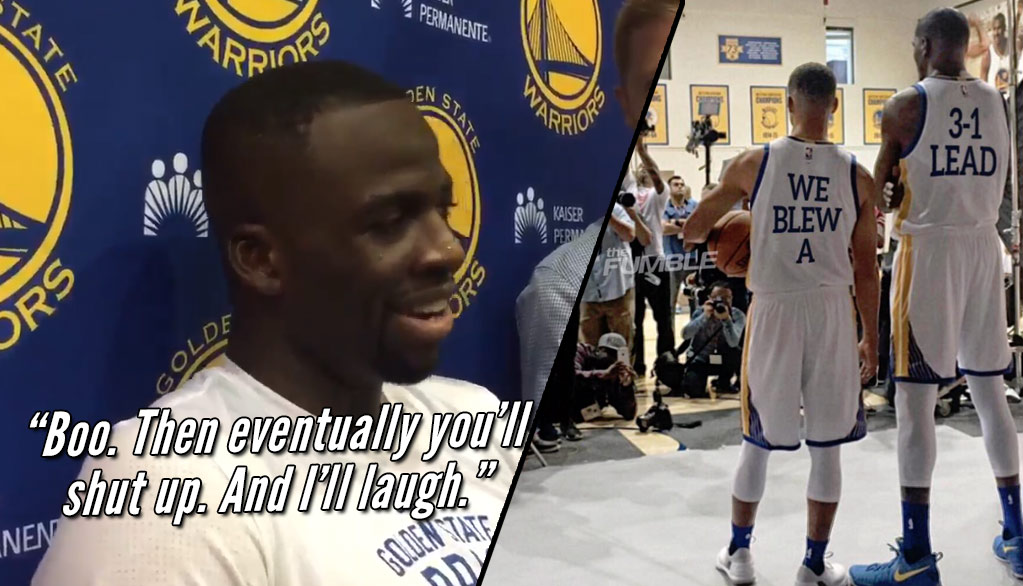 """Draymond Green On The Warriors Being Villains: """"Boo, Then Eventually You'll Shut Up. And I'll Laugh"""""""