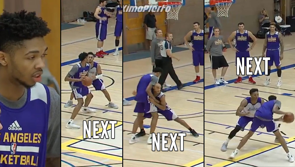 Next! Brandon Ingram Hitting Shots Over His Teammates