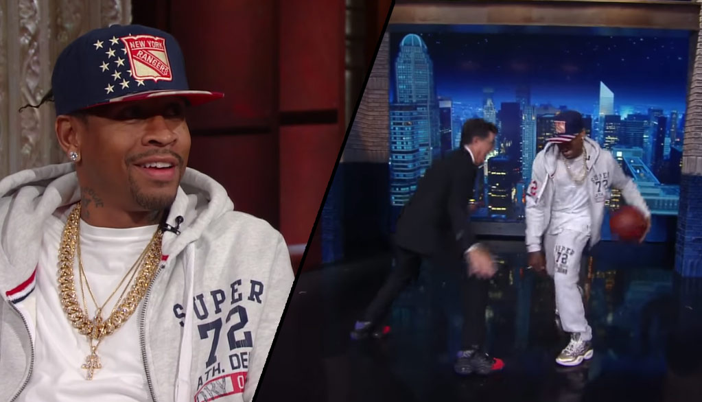 Allen Iverson Crosses Stephen Colbert, Says Some Kids Only Know Him For Crossing Michael Jordan