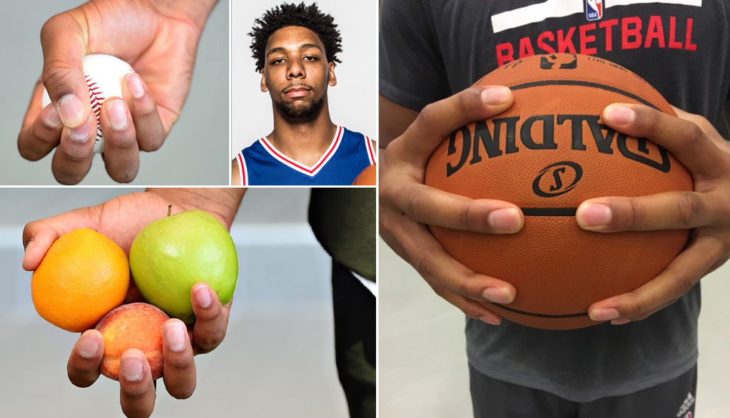 Jahlil Okafor's Hands Are As Big As Kawhi Leonard's Claws