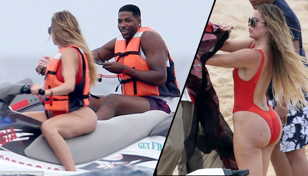 Tristan Thompson With Khloe Kardashian in Cabo San Lucas