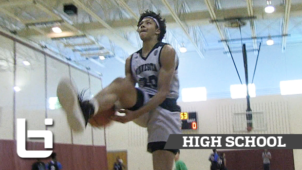 Jericho Sims Looks Like He's Playing on 9-foot Rim! Future Texas Longhorn Big Has BOUNCE!
