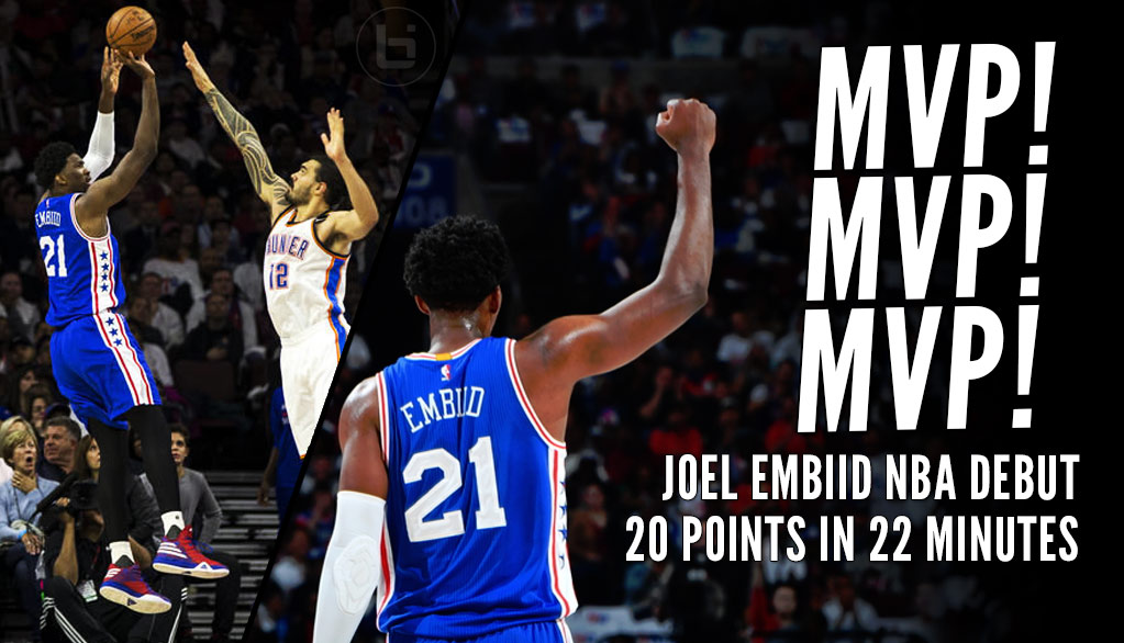 Joel Embiid Gets MVP Chants During Impressive NBA Debut