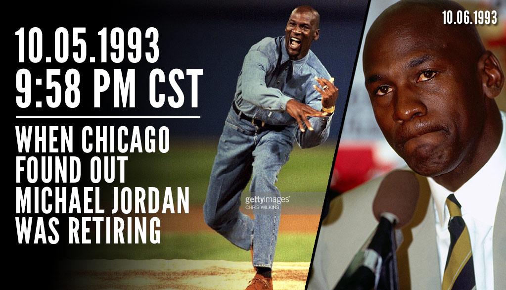 Remembering The Night In Chicago Before Michael Jordan Announced His (First) Retirement