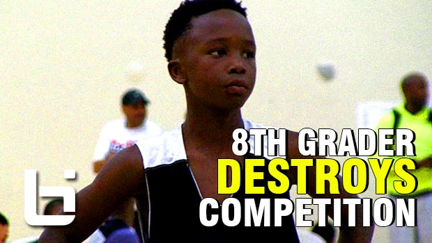 8th grader Boopie Miller Destroys Competition at John Lucas Camp Right Way!