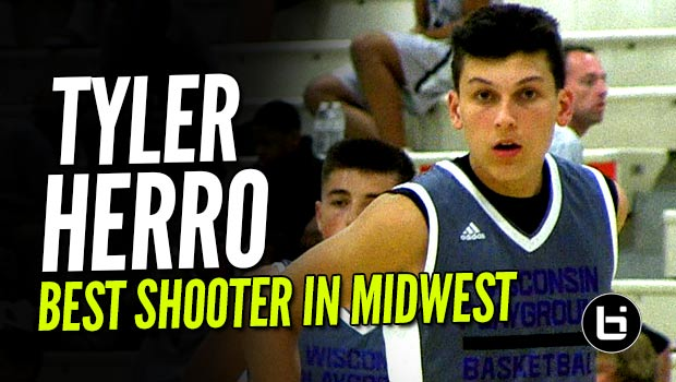 The Best Pure Shooter In The Midwest Is Tyler Herro! Future Badger Ballislife Mixtape